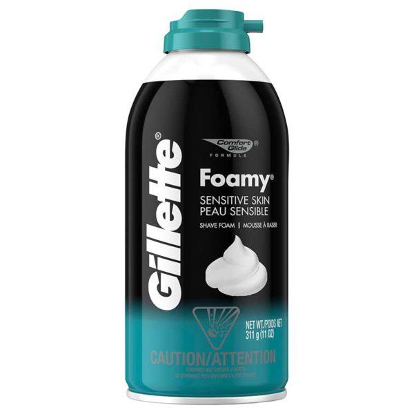 Gillette Foamy Piel Sensible, 11 oz