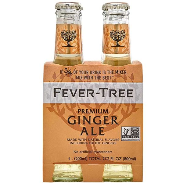 Ginger Ale Premium Fever-Tree, 6.7 oz (4 pack)