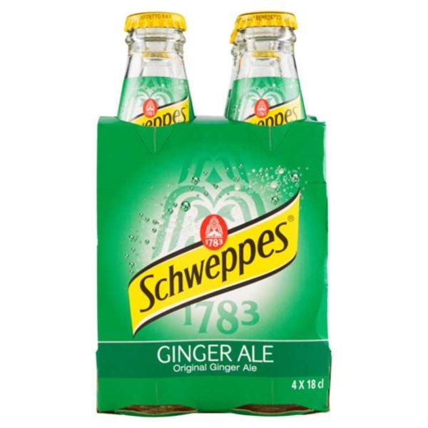 Ginger Ale Schweppes, 6 oz (4 pack)