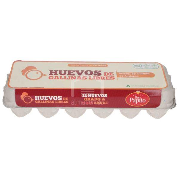 Huevo Don Papito Gallina Libre, 12 uds