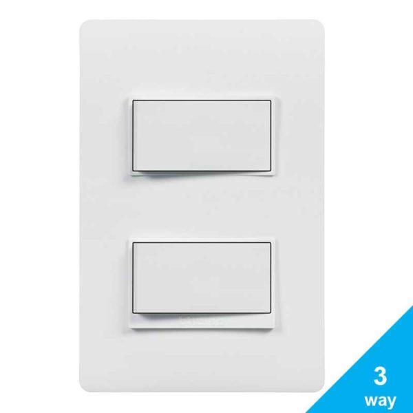 Interruptor Doble Para 3-way Bticino LUZICA, 15 Amp