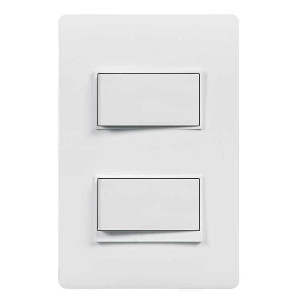 Interruptor Doble c/ Luz Piloto Bticino LUZICA, 15 Amp