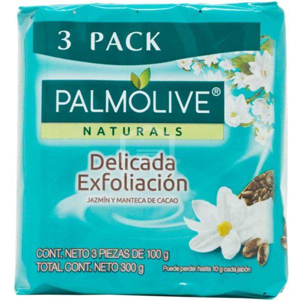 Jabón en Barra Palmolive NaturalsJazmín y Manteca de Cacao, (3 uds)