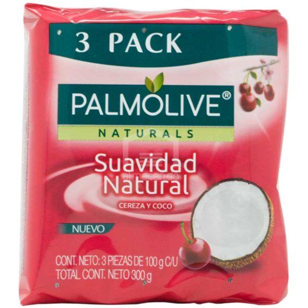 Jabón en Barra Palmolive NaturalsCereza y Coco, (3 uds)