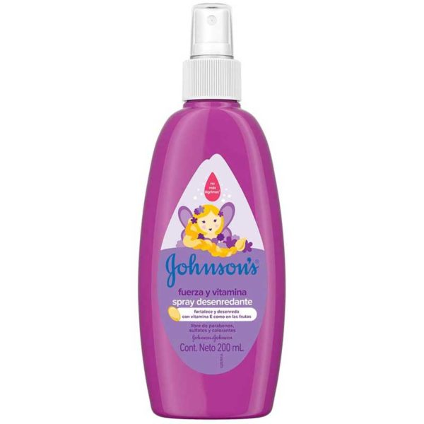 Johnson's Baby Spray para Peinar Fuerza y vitamina, 200 ml