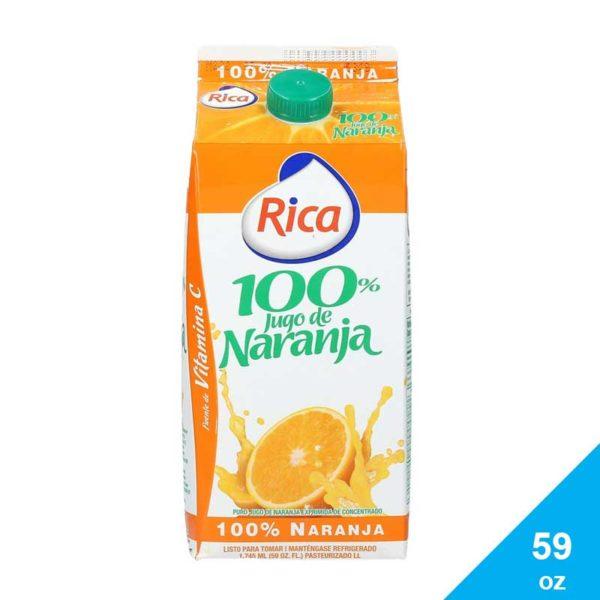 Jugo Naranja 100% Rica, 59 oz