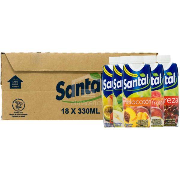 Jugo Santal Sabores Surtido, 330ml Caja (18 uds)