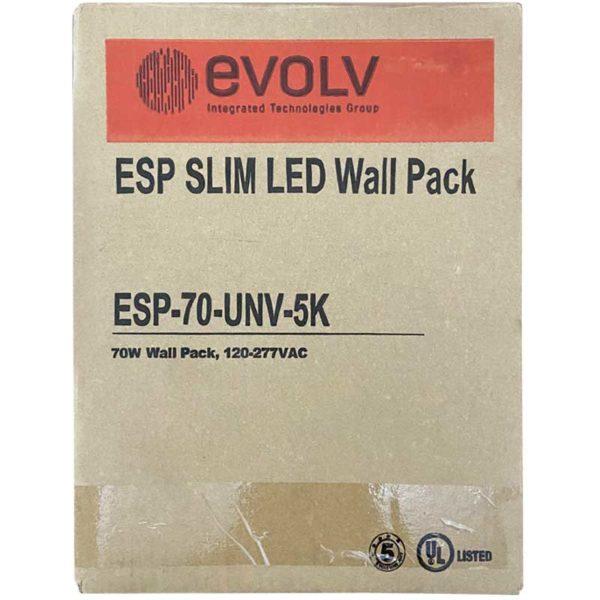 Lámpara LED exterior de pared 70 W 5000 K