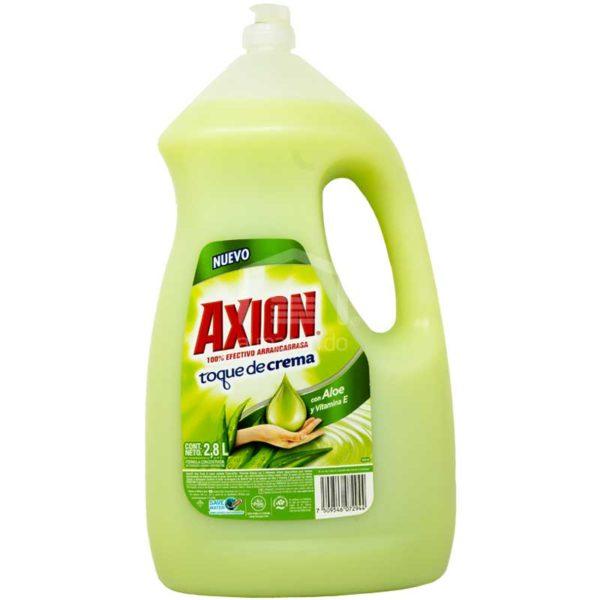 Lavaplatos Axion Toque de Crema Áloe, 2.8 L