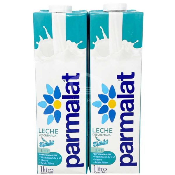 Leche Descremada Parmalat, 1 L (2 uds)