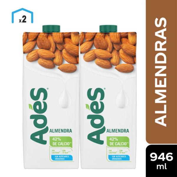 Leche de Almendra Adés sin Azúcar, 32 oz (2 uds)