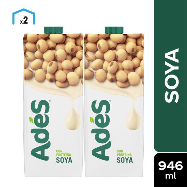 Leche de Soya Adés, 32 oz (2 uds)