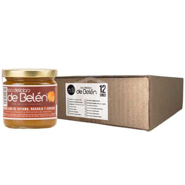 Mermelada de Auyama, Naranja y Jengibre Las Delicias de Belén, Caja (12 x 200g)