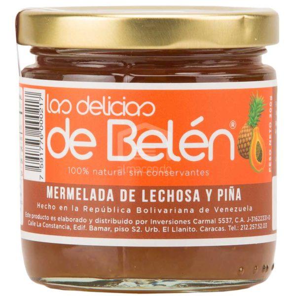 Mermelada de Lechosa y Piña Las Delicias de Belén, Caja (12 x 200 g)