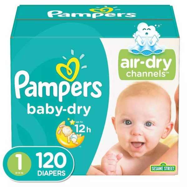 Pañales Pampers Baby-Dry No. 1, (120 uds)