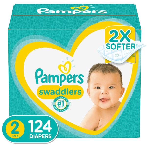 Pañales Pampers Swaddlers No. 2 Caja (124 uds)