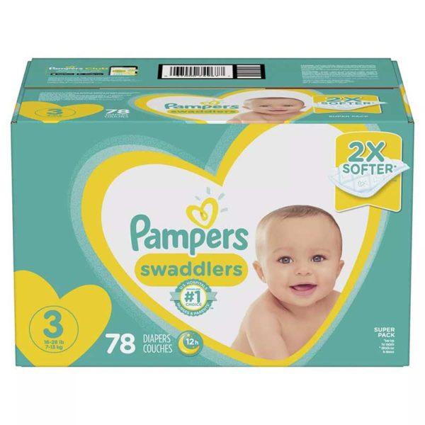 Pañales Pampers Swaddlers No. 3, Caja (78 uds)