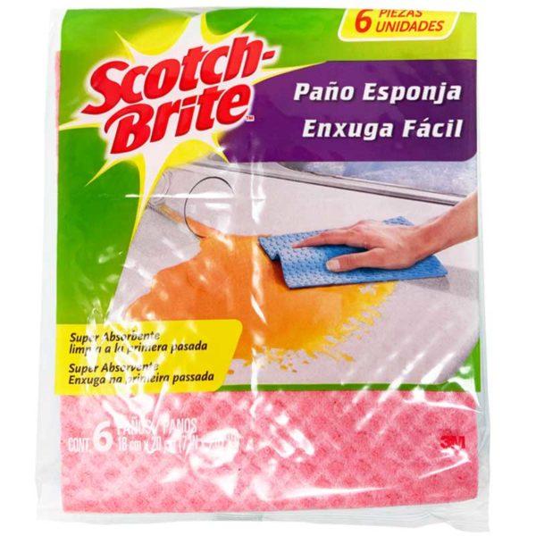 Paño Scotch-Brite Biodegradable (6 uds)
