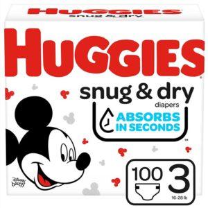 Pañales Huggies Snug & Dry No. 3 Caja (100 uds)