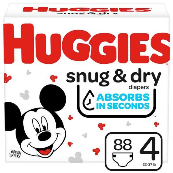 Pañales Huggies Snug & Dry No. 4 Caja (88 uds)