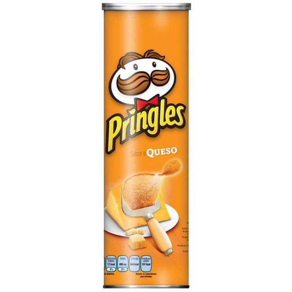 Papas Fritas Pringles Sabor a Queso, 124 g