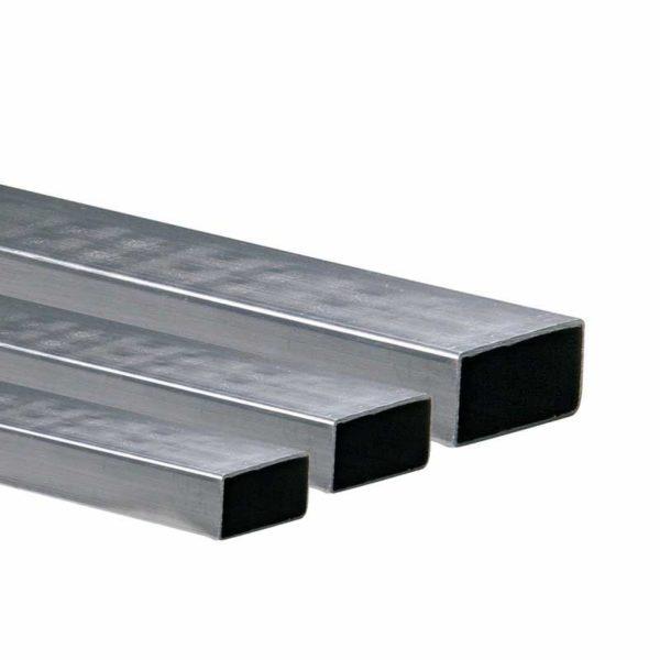 "Perfil Rectangular Galvanizado de 20' Pies de Largo, 2"" x 1"" x 1.20 mm grosor metalico"