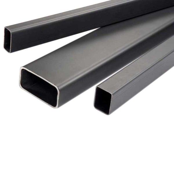 Perfil Rectangular Negro de 20′ Pies de Largo, 2 3/8″ x 1 1/2″ x 1.55 mm grosor metalico