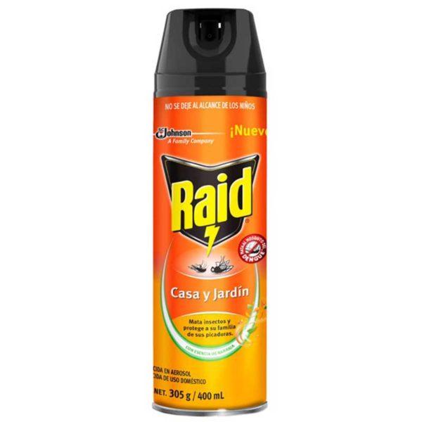 Pesticida Raid Mata Insectos Casa y Jardín, 400 ml