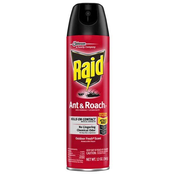 Pesticida Raid Mata Insectos Hormigas y Cucarachas, 12 oz