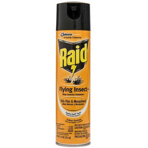 Pesticida Raid Mata Insectos Voladores Fresco Aroma Campestre, 11 oz