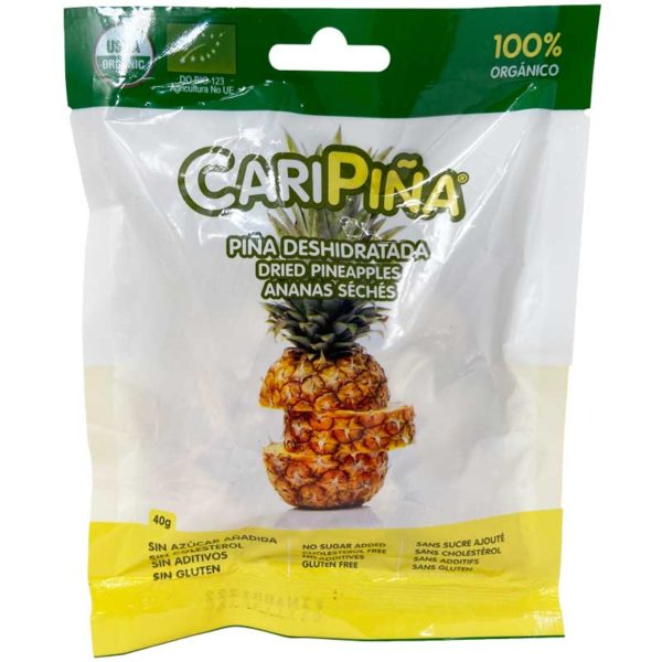 Piña Deshidratadas CariFrutas, 40 g