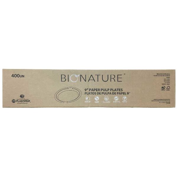 Platos EP809 Bionature #9 (20 x 20 uds)