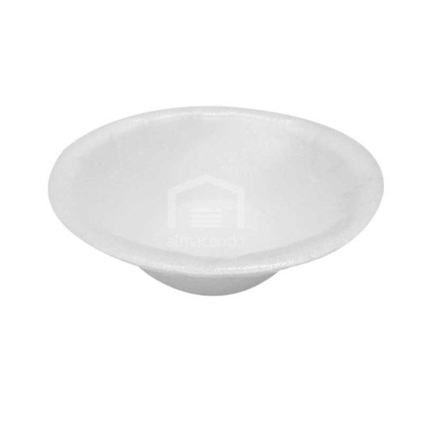 Platos Foam Desechables Hondo No.5 Plastifar, (8 x 125 uds)