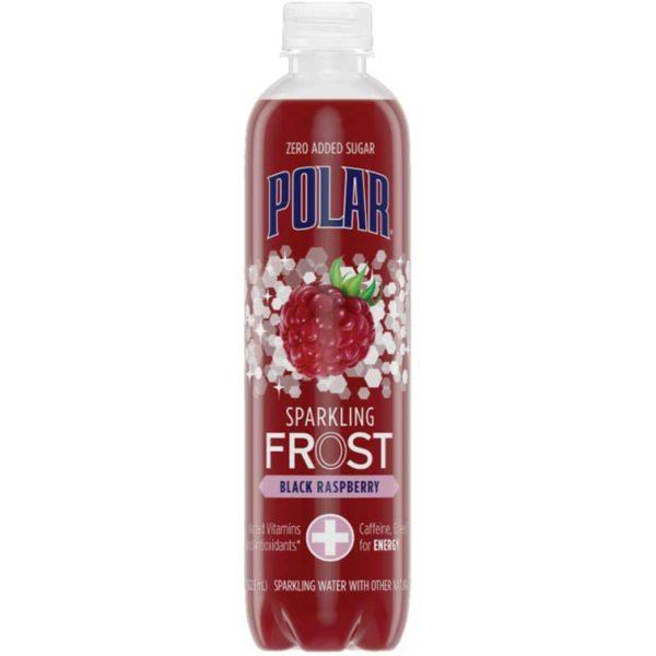 Polar FROST Sparkling Water Black Raspberry, 17 oz