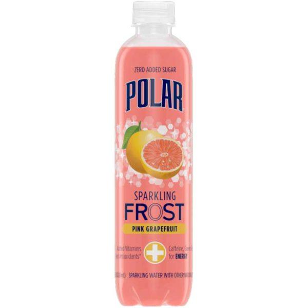 Polar FROST Sparkling Water Pink Grapefruit, 17 oz