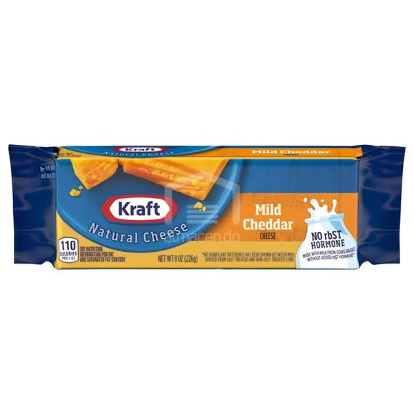 Queso Kraft Cheddar Suave, 8 oz