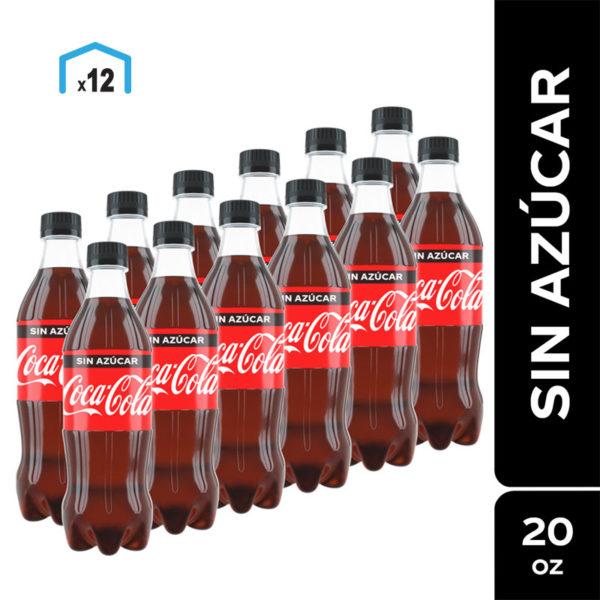 Refresco Coca Cola sin Azúcar, 20 oz (12 uds)