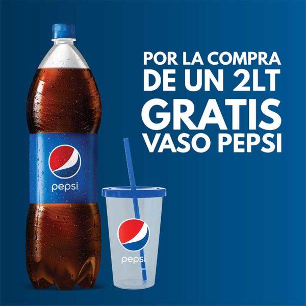 Refresco Pepsi, 2 L + Vaso (OFERTA)
