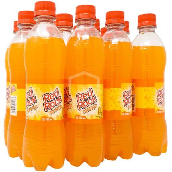 Refresco Red Rock Sabor Naranja, 15.2 oz (12 uds)
