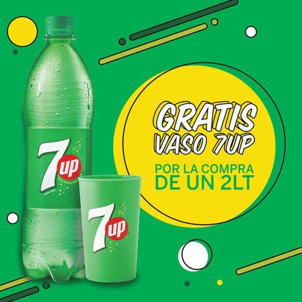 Refresco Seven Up, 2 L + Vaso (OFERTA)