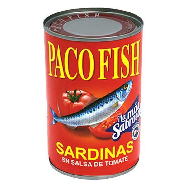 Sardinas Paco Fish en Salsa de Tomate, 15 oz