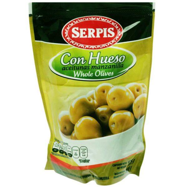 Serpis Aceitunas Manzanilla Con Hueso, 175 g