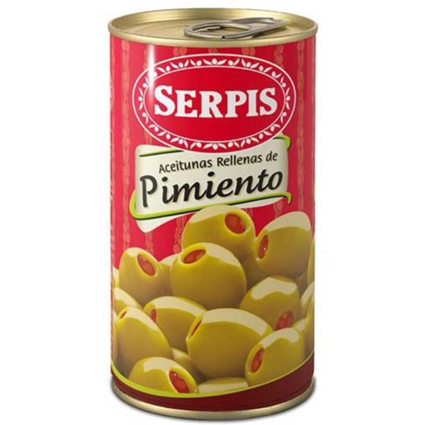 Serpis Aceitunas Rellenas de Pimiento, 350 g
