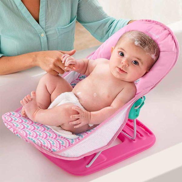 Silla de Baño para Bebés Summer Infant Deluxe Estampado Rosado