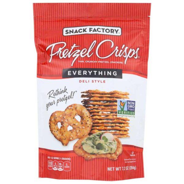 Snack Factory Pretzel Crisps Everything, 7.2 oz
