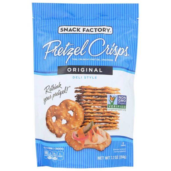 Snack Factory Pretzel Crisps Original, 7.2 oz