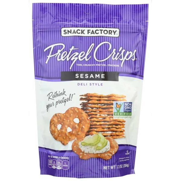 Snack Factory Pretzel Crisps Sesame, 7.2 oz