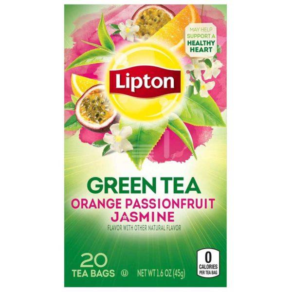 Té Lipton Green Tea Naranja Maracuyá Jazmín, 20 uds