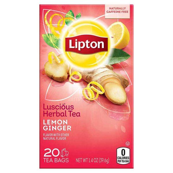Té Lipton de Hierbas, Limón y Jengibre, 20 uds