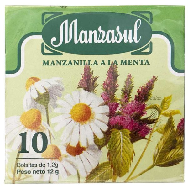 Té La Leonesa Manzanilla a la Menta, 10 uds
